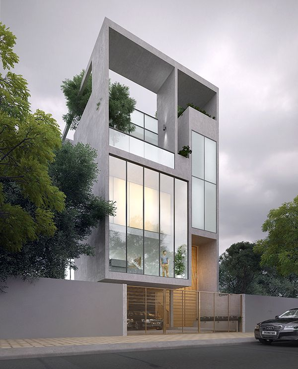 Chic Contemporary Spaces Rendered By Anh Nguyen: House On Behance