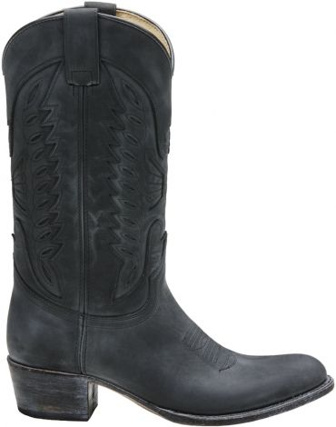 Description: Sendra Boots - 8850 Sendra laars van leer. De voet van de laars heeft sierstiksels. Deze stoere cowboylaarzen zijn goodyear genaaid en natuurlijk met leren zolen.  Price: 279.95  Meer informatie  Zwarte Sendra Boots unisex western