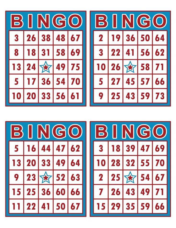 Bingo cards 1000 cards 4 per page immediate pdf download