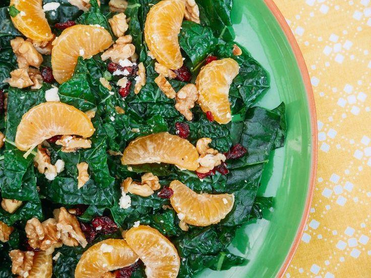 Mandarin, Kale and Cranberry Salad