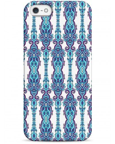 Вертикальный синий узор - iPhone 5 / 5S / 5C Дизайнерские чехлы для iPhone