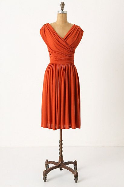 Pretty dress, love the color too.Fashion, Anthropology, Style, Orange Dresses, Clothing, Bridesmaid Dresses, Colors, Whirligig Dresses, Fall Dresses