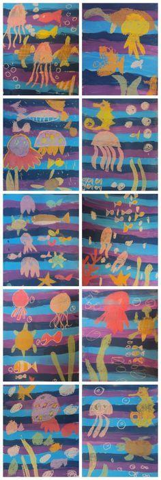 Como Pintar el fondo marino