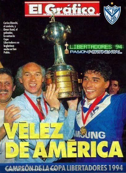 """Tapa Revista """"El Gráfico"""" - Velez Sarsfield - Campeón Libertadores 1994"""