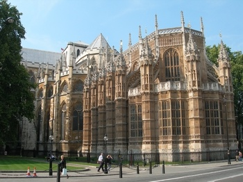 Westminster Abbey, a nice view of 'opposite' end of Abbey. The Henry 7th chapel. The stained glass so gorgeous when inside this chapel!