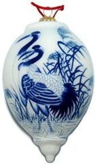 Chinoiserie Christmas Ornaments – Blue and White Chinoiserie Ornaments  #SilkRoadCollection