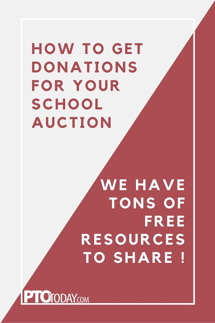 Get our free resources to help plan and manage your school auction!   #pto #pta