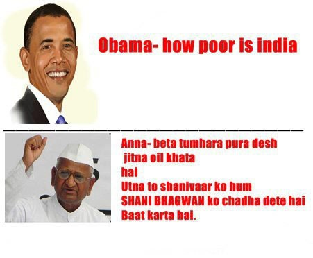 Obama Funny Comments Anna Hazare ,Obama Anna Hazare Funny Jokes , Obama Funny Jokes Anna,
