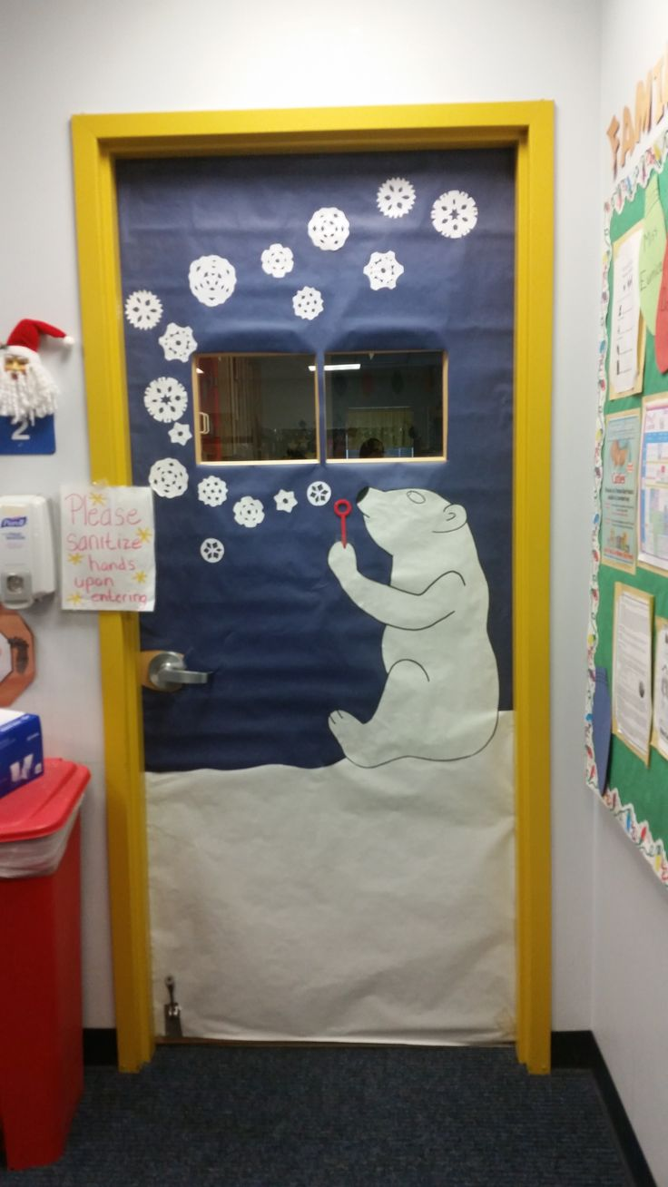 """Play & Learn: Abington, PA   """" Polar Bear Bubbles"""" - Winter Wonderland Door Decorations  http://www.playandlearn.com/index.php"""
