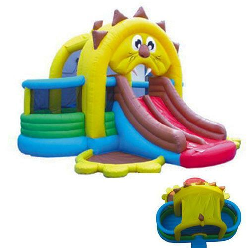 Buy the Commercial Lion's Den Bounce House and Slide #sale #bouncehouse #kidwise