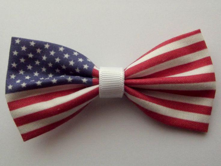 USA Flag Hair Bow by PixieBluebellDesigns on Etsy https://www.etsy.com/listing/159925132/usa-flag-hair-bow
