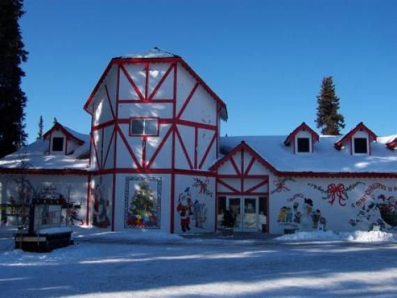 Santa Claus House in North Pole, Alaska- Trading post where children send letters....we lived just a few miles from here in 1994.