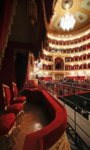 The Bolshoi Theatre - Russia, was beside myself sitting in this theatre, right next to the Tsar's box, watching excerpts from the cannon of ballet!