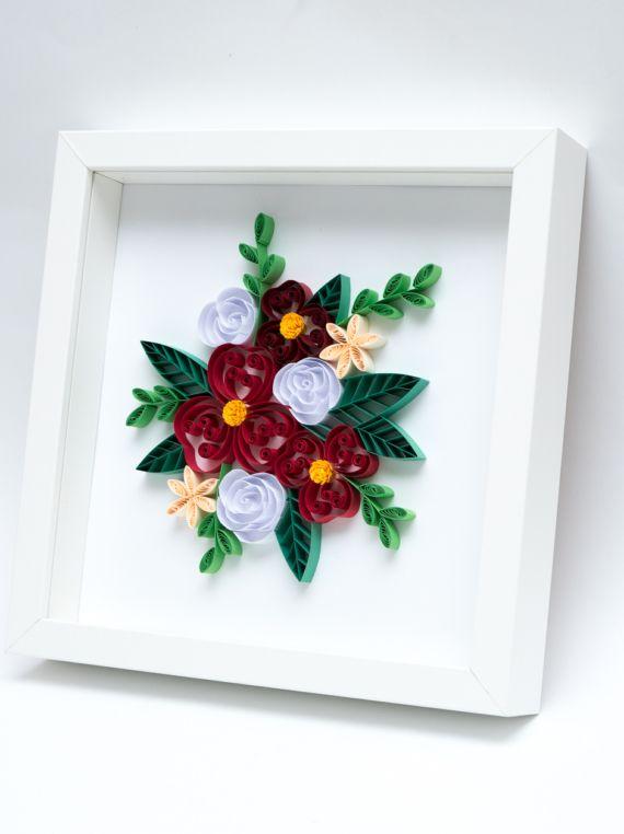 Recznie Robione Kwiaty Z Papieru Dekoracja Mieszkania Na Sciane Roslinne Dekoracje Frame Paper Decor