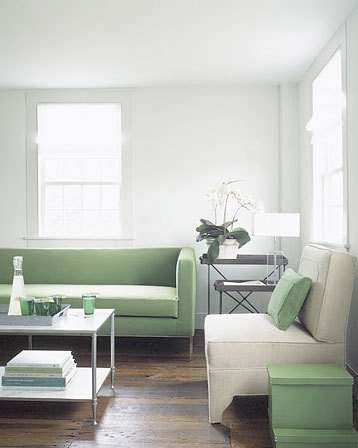 Mint green retro furnishings courtesy of Apartment Therapy.