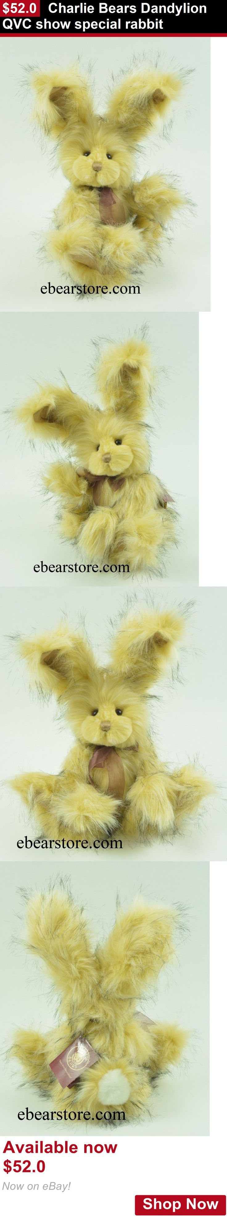 Camcorders: Charlie Bears Dandylion Qvc Show Special Rabbit BUY IT NOW ONLY: $52.0