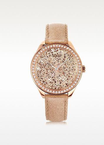 Radiance Glitter Rose Gold Women's Watch - Guess