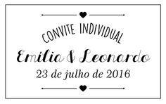 Convite individual retrô. #Casamento #Convitedecasamento