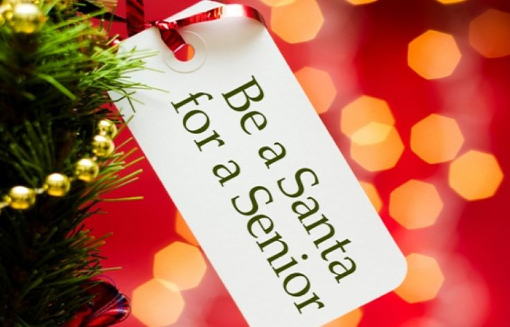 "Tag with ""Be a Santa for a Senior"" Tag"