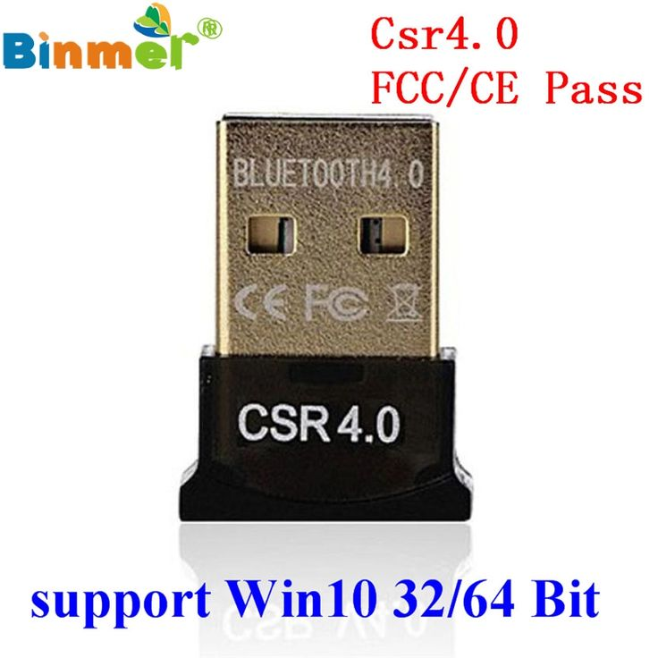 Original binmer mejor usb dongle bluetooth 4.0 rse de modo dual Adaptadores inalámbricos Para Windows 10 Laptop PC Bueno Packge Conductor envío