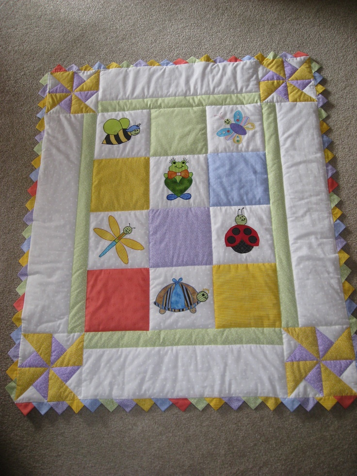 Baby Quilt I made •.¸¸.♥
