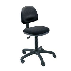 Safco 3380BL Precision Desk-Height Swivel Chair, Black Fabric PNo: 3380BL