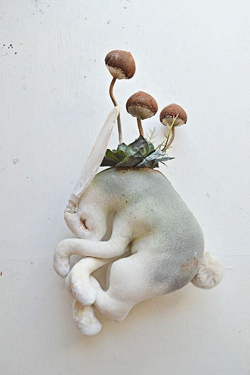 Toadstool Hare By Mister Finch http://www.mister-finch.com/