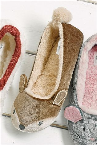 Buy Deer Character Ballet Slippers from the Next UK online shop