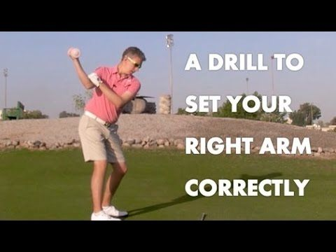 Golf Drill - The Correct Right Arm / Shoulder Movement - YouTube