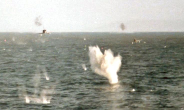 The snapper, who has never been named, somehow survived the Falklands War attack by two A4 Skyhawks on May 25, 1982.