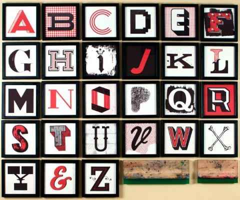 Screen printed letter set by JP Boneyard Design.