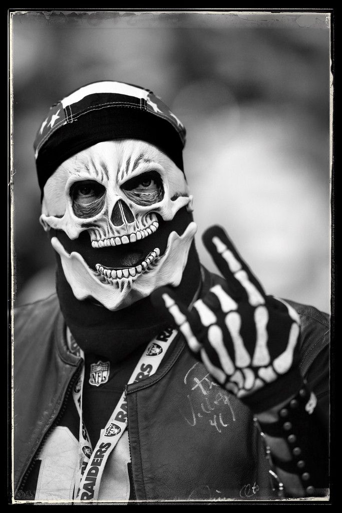 DIGITAL FILTERS WERE USED IN THE CREATION OF THIS IMAGE) Raider fans enjoy the prematch atmosphere during the NFL match between the Oakland Raiders and the Miami Dolphins at Wembley Stadium on September 28, 2014 in London, England.