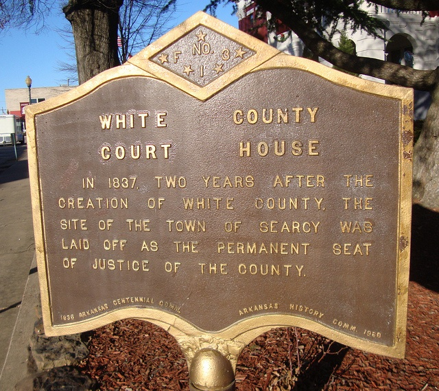 White County Courthouse Marker (Searcy, Arkansas) by courthouselover, via Flickr