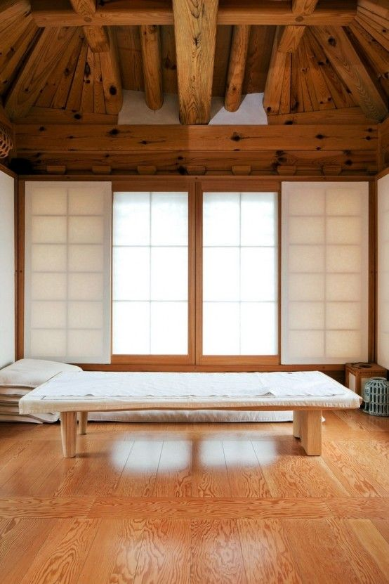 A modern traditional Korean bedroom