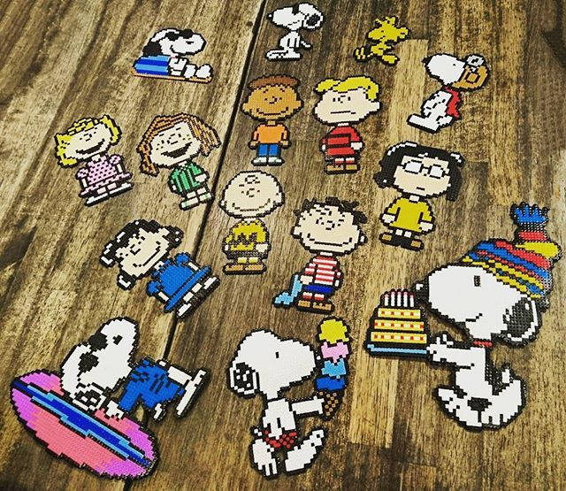 Peanuts perler beads by 0maaa7n1a4mi