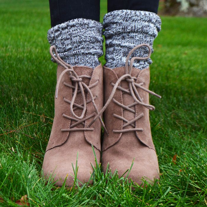 These scrunched socks cozy up any boots