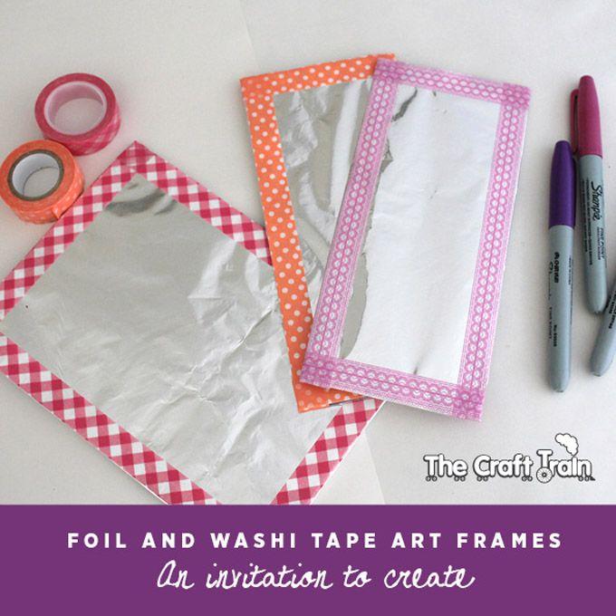 Foil & Washi Tape Art Canvases for Kids