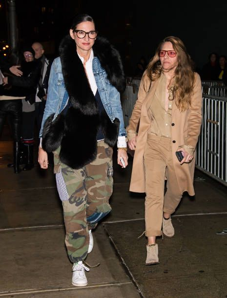 Fashion designer Jenna Lyons and Courtney Crangi are seen arriving to the Altuzarra fashion show during New York Fashion Week on February 12 2017 in...