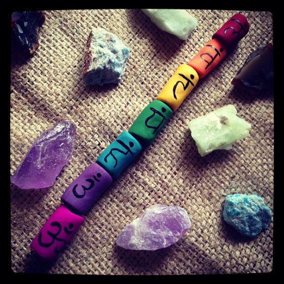 Chakra dread bead set  by thisthatandthese on Etsy, $20.00 :: #dreadstop