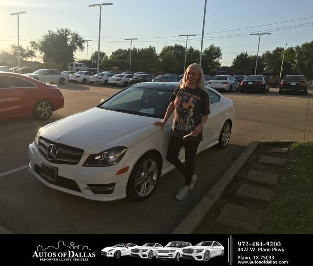 Congratulations Jessica on your #Mercedes-Benz #C-Class from Robert  (Chris) Miller at Autos of Dallas!  https://deliverymaxx.com/DealerReviews.aspx?DealerCode=L575  #AutosofDallas