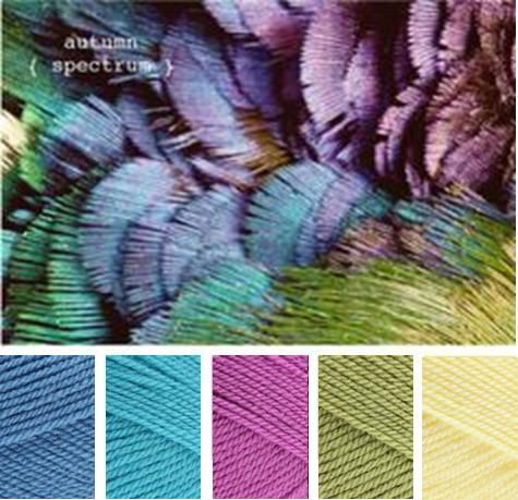 Aster, Turquoise, Magenta, Meadow, Lemon - Stylecraft special dk shades