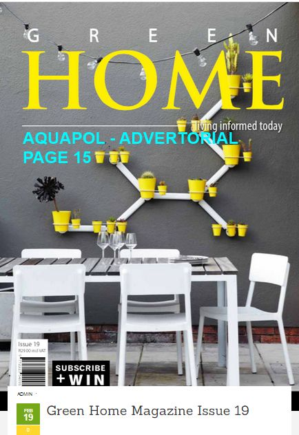 Green Home Magazine Issue 19 - Aquapol advertorial