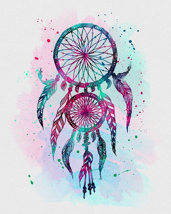 25 Best Ideas About Watercolor Dreamcatcher On Pinterest