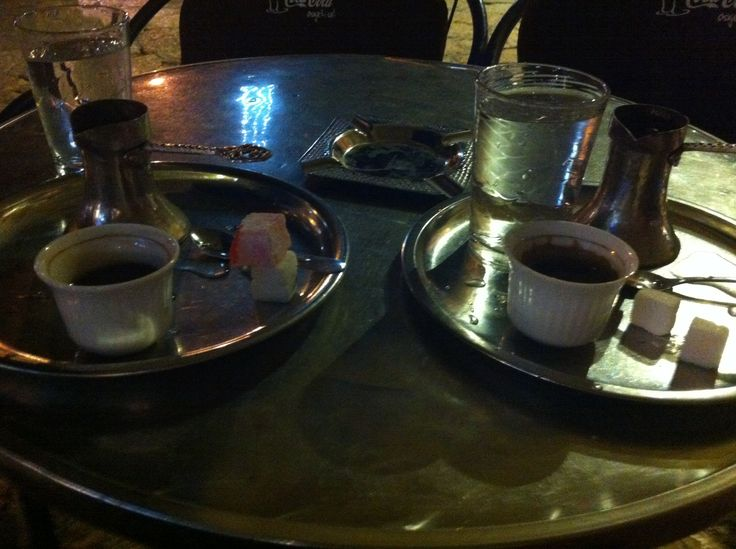Bosnian (same with the Turkish style and taste) coffee in Sarajevo