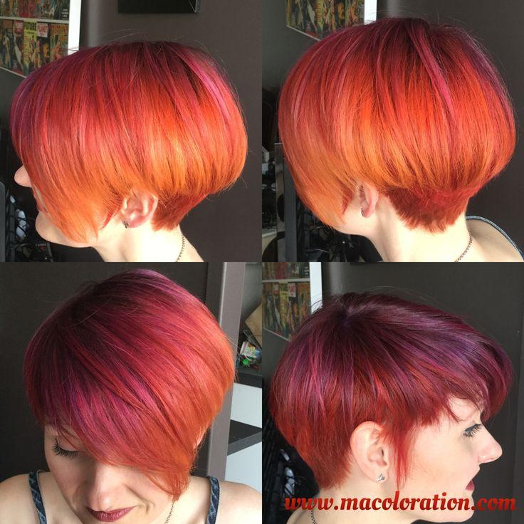 Phoenix Hair sur cheveux court. Fait par macoloration.com