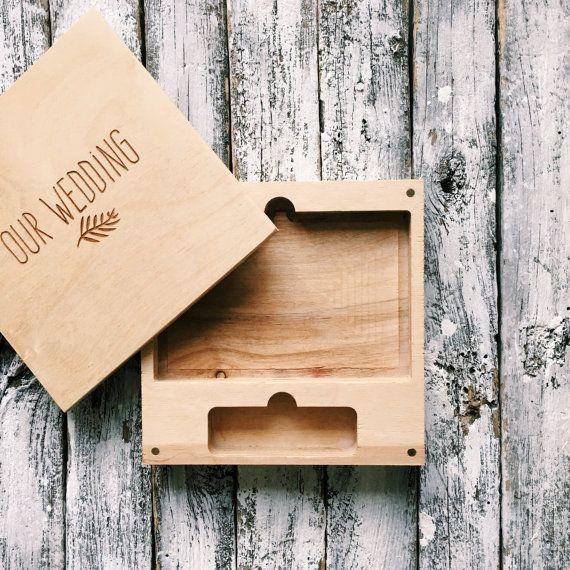 Lot de 20 boîtes en bois pour USB et photo 4 x 6 (10x15cm), Forfait mariage, boîte de mariage, emballage pour les photographes.