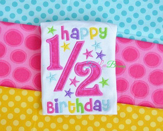 Happy half birthday - girl birthday - birthday princess - half by 5littleblessings, $21.00