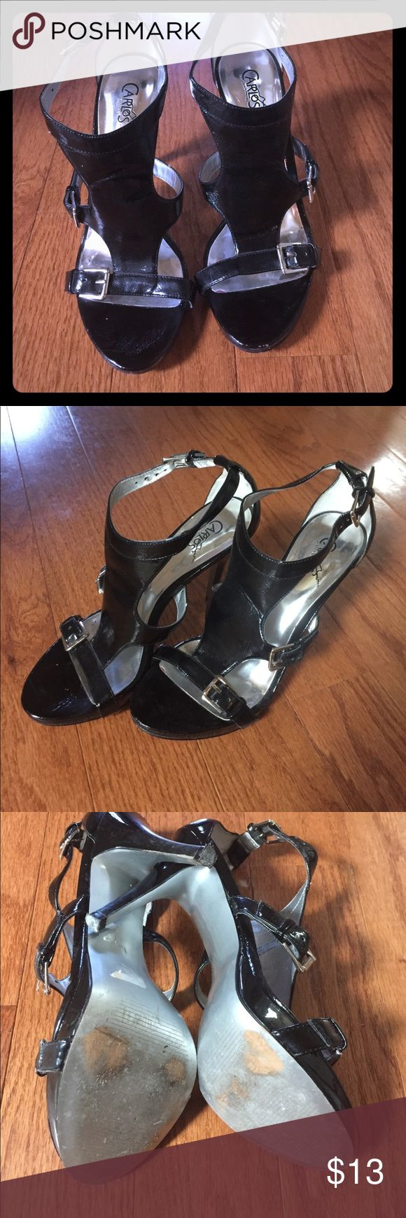 Black Carlos Santana Heels Carlos Santana Size 7.5 Black Heels. Super cute! Worn 3-4 times. A couple scuffs but very minimal wear overall. Just looking to clear out my closet and don't really wear them. Carlos Santana Shoes Heels