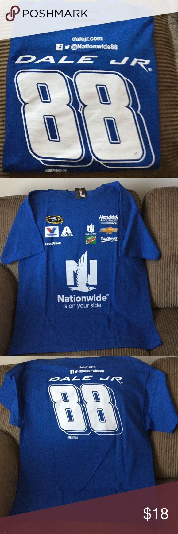 NASCAR Dale Earnhardt short sleeve T shirt NASCAR shirt with Nationwide on front and Dale, Jr. 88 on back,  from smoke free home, new with tags Hendrix Motorsports Shirts Tees - Short Sleeve