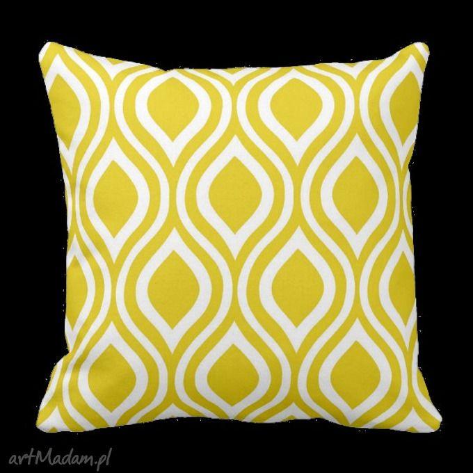 Poduszka nicole rojo żółto biała 6210 poduszki artmini home